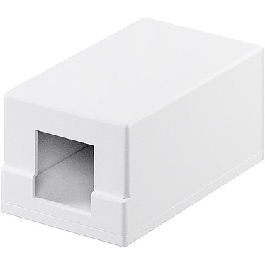 Goobay boiter réseau vide type Keystone (1 port) Boitier réseau vide pour modules compatibles