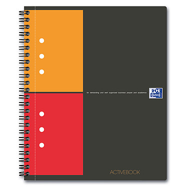 Oxford ActiveBook Cahier A5+ 160 pages petits carreaux Cahier 160 pages A5+ 17 x 21 cm petits carreaux 5x5 mm