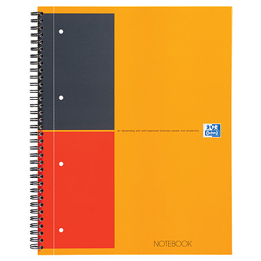 Oxford NoteBook Cahier A4+ 160 pages lignés 6 mm Cahier 160 pages A4+ 210 x 318 mm