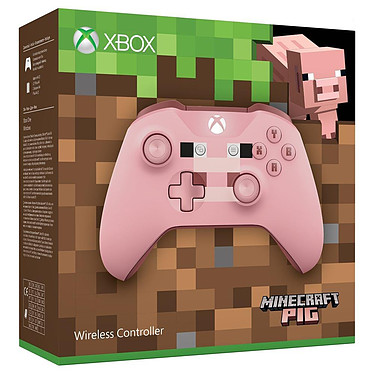 Avis Microsoft Xbox One Wireless Controller Minecraft Pig