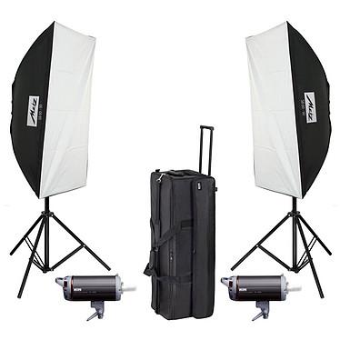Metz TL-600 SB-Kit II Kit photographie d'intérieure avec flashes, boîtes à lumière, pieds, câbles et trolley