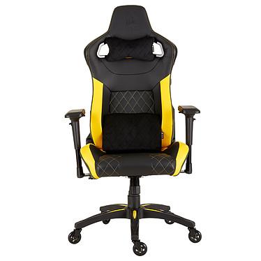 Corsair T1 Race V2 (noir/jaune) Siège gaming - revêtement en similicuir - assise moulée ferme - accoudoirs 4D - dossier inclinable à 180° - siège inclinable à 10° - poids limité à 120 kg