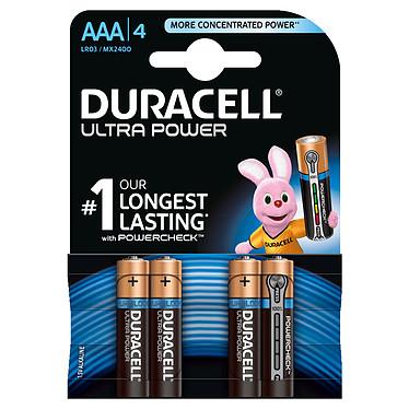 Duracell Ultra Power AAA (par 4) Pack de 4 piles alcalines AAA (LR03) 1.5V