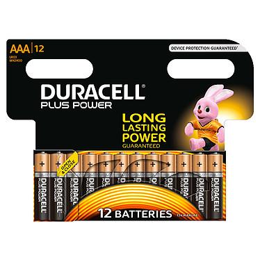 Duracell Plus Power AAA (par 12) Pack de 12 piles alcalines AAA (LR03) 1.5V