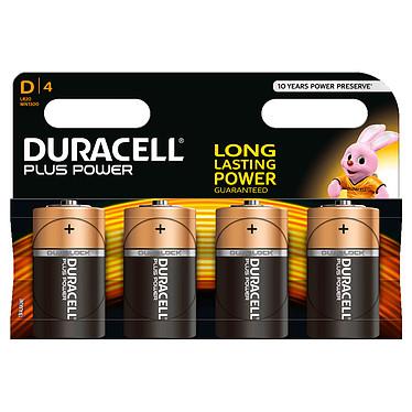 Duracell Plus Power D (par 4) Pack de 4 piles alcalines D (LR20) 1.5V