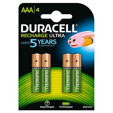 Duracell Recharge Ultra AAA 850 mAh (par 4) Pack de 4 piles rechargeables AAA 850 mAh