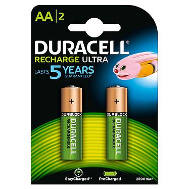 Duracell Recharge Ultra AA 2500 mAh (par 2) Pack de 2 piles rechargeables AA 2500 mAh