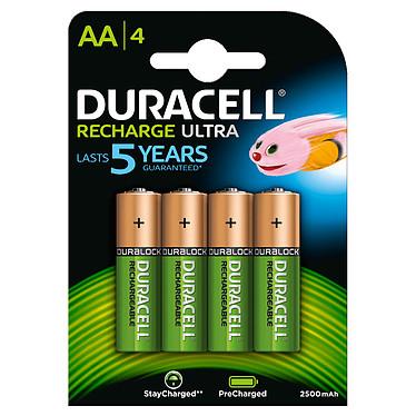 Duracell Recharge Ultra AA 2500 mAh (par 4) Pack de 4 piles rechargeables AA 2500 mAh