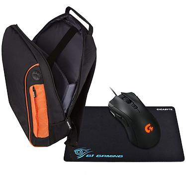 Gigabyte Pack Sac à dos + souris XM300 + tapis de souris MP100 Pack Gamer avec Sac à dos + souris XM300 + tapis de souris MP100