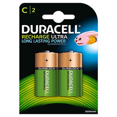 Duracell Recharge Ultra C 3000 mAh (par 2) Pack de 2 piles rechargeables C 3000 mAh