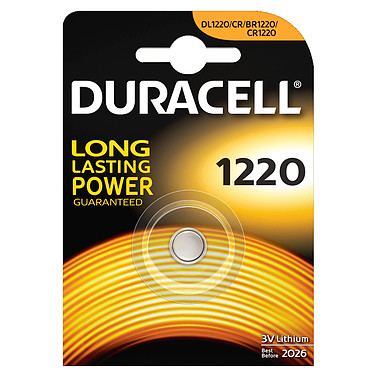 Duracell 1220 Lithium 3V Pile bouton CR1220 au lithium 3V