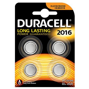 Duracell 2016 Lithium 3V (par 4) Pack de 4 piles bouton CR2016 au lithium 3V