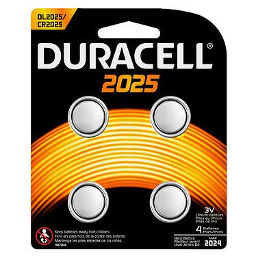 Duracell 2025 Lithium 3V (par 4) Pack de 4 piles bouton CR2025 au lithium 3V