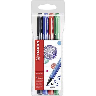 STABILO pointMax 4 stylos feutres 0.8 mm