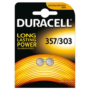 Duracell 357/303 1.5V (par 2) Pack de 2 piles bouton 357/303 oxyde d'argent 1.5V
