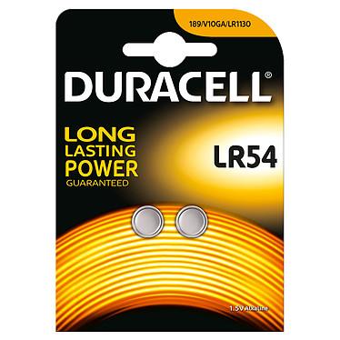 Duracell LR54 1.5V (par 2) Pack de 2 piles bouton LR54 Alcaline 1.5V