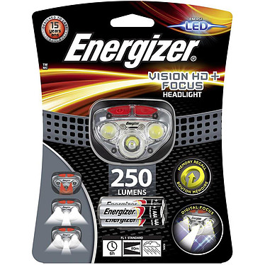 Energizer Vision HD Plus Focus Headlight Lampe frontale avec ampoule LED - 250 lumens