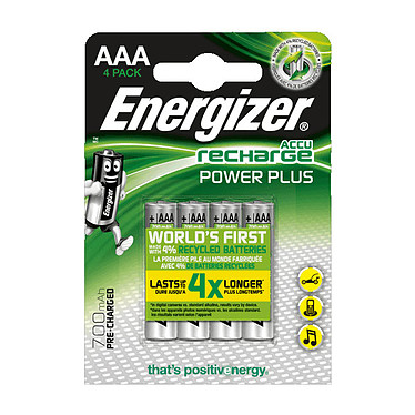 Energizer Recharge Power Plus AAA (por 4) Pack de 4 pilas recargables 700 mAh AAA (LR03)