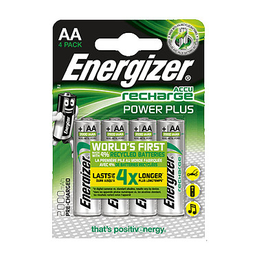 Energizer Recharge Power Plus AA (par 4) Pack de 4 piles rechargeable 2000 mAh AA (LR6)