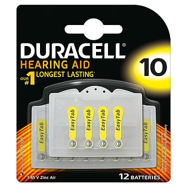 Duracell Hearing Aid 10 (par 12) Pile pour appareils auditifs 10