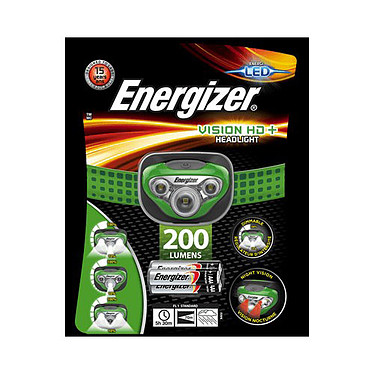 EnergizerVision HD+ Lampe frontale avec ampoule LED -  250 lumens