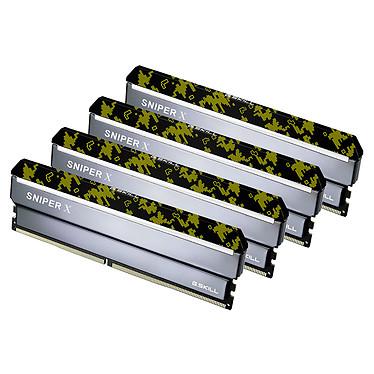 G.Skill Sniper X Series 64 Go (4x 16 Go) DDR4 2400 MHz CL17 Kit Quad Channel 4 barrettes de RAM DDR4 PC4-19200 - F4-2400C17Q-64GSXK