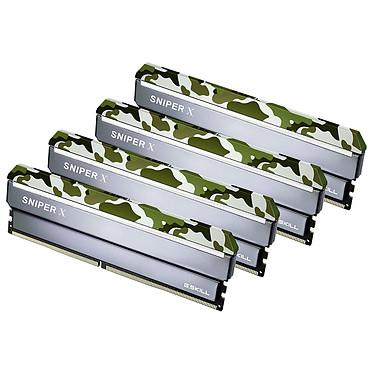 G.Skill Sniper X Series 32 Go (4x 8 Go) DDR4 2400 MHz CL17 Kit Quad Channel 4 barrettes de RAM DDR4 PC4-19200 - F4-2400C17Q-32GSXF