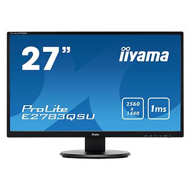 "iiyama 27"" LED - E2783QSU-B1 2560 x 1440 pixels - 1 ms - Format large 16/9 - HDMI - DisplayPort - USB - Noir"