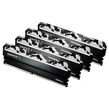 G.Skill Sniper X Series 64 Go (4x 16 Go) DDR4 2400 MHz CL17 Kit Quad Channel 4 barrettes de RAM DDR4 PC4-19200 - F4-2400C17Q-64GSXW