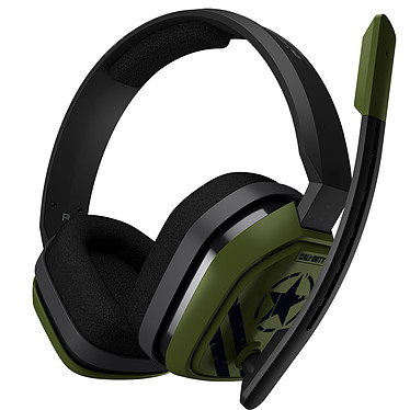 Astro A10 Call of Duty Noir (PC/Mac/Xbox One/PlayStation 4/Switch/Mobiles) Casque gaming - Circum-aural fermé - Microphone unidirectionnel rétractable - Jack 3.5 mm - Compatible PC/Mac/Xbox One/PlayStation 4/Switch/Mobiles