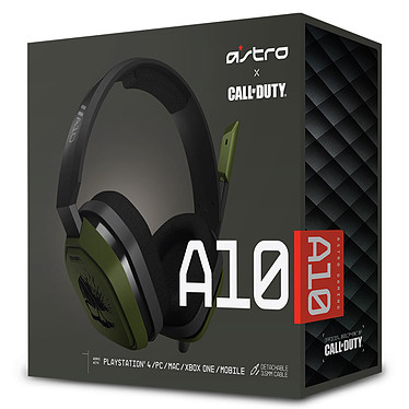 Astro A10 Call of Duty Noir (PC/Mac/Xbox One/PlayStation 4/Switch/Mobiles) pas cher