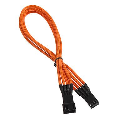 BitFenix Alchemy Orange - Câble d'alimentation gainé - 4 pins PWM - 30 cm Rallonge d'alimentation pour ventilateur 4 broches (30 cm)