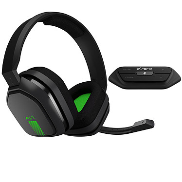 Astro A10 + MixAmp M60 Gris/Vert (PC/Mac/Xbox One/PlayStation 4/Switch/Mobiles) Casque gaming - Circum-aural fermé - Microphone unidirectionnel rétractable - Jack 3.5 mm - Compatible PC/Mac/Xbox One/PlayStation 4/Switch/Mobiles