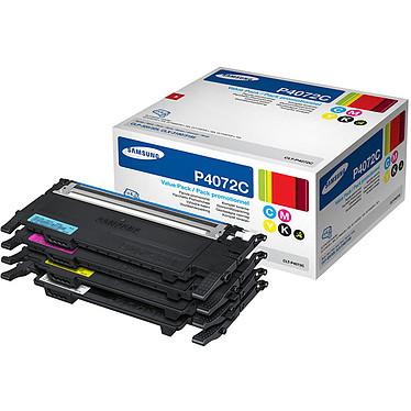 Samsung CLT-P4072C Pack de 4 toners Noir + Cyan + Magenta + Jaune (1 x 1 500 pages à 5% + 3 x 1000 pages à 5%)