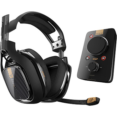 Astro A40 TR + MixAmp Pro TR Noir (PC/Mac/PlayStation 4/Switch) Casque gaming - Circum-aural fermé - Son Surround 7.1 - Microphone unidirectionnel rétractable - Jack 3.5 mm - Compatible PC/Mac/PlayStation 4/Switch