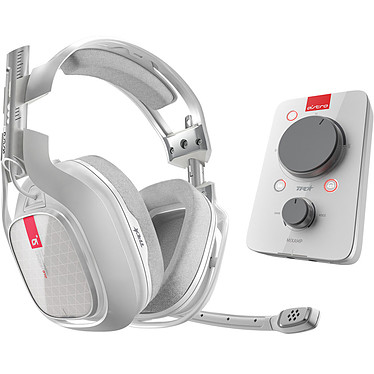 Astro A40 TR + MixAmp Pro TR Blanc (PC/Mac/Xbox One/Switch) Casque gaming - Circum-aural fermé - Son Surround 7.1 - Microphone unidirectionnel rétractable - Jack 3.5 mm - Compatible PC/Mac/Xbox One/Switch