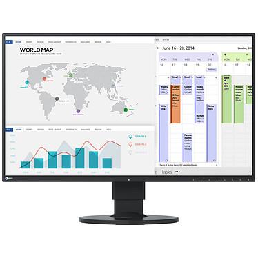 """EIZO 27"""" LED - FlexScan EV2750-BK 2560 x 1440 pixels - 5 ms (gris à gris) - Format large 16/9 - Dalle IPS - Pivot - DisplayPort - HDMI - Hub USB - Noir"""