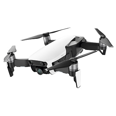 DJI Mavic Air Blanc Quadricoptère pliable ultraportable avec caméra embarquée 4K, nacelle 3-axes, portée 10000 m et compatible iOS et Android - 8 Go