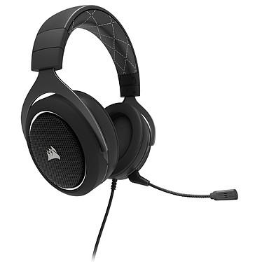 Corsair HS60 (blanc) Casque gaming - USB/Jack - son surround virtuel 7.1 - micro à réduction de bruit - certifié Discord