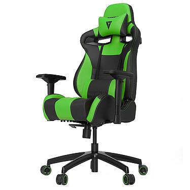 Vertagear Racing SL4000 (negro/verde) Asiento de piel con respaldo regulable en 140° y reposabrazos 4D para jugadores (hasta 150 kg)