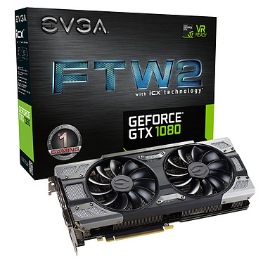 EVGA GeForce GTX 1080 FTW2 GAMING ICX 8192 MB DVI/HDMI/Tri DisplayPort - PCI Express (NVIDIA GeForce con CUDA GTX 1080)