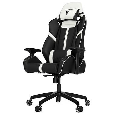 Vertagear Racing SL5000 (blanc) Siège en similicuir avec dossier réglable à 140° et accoudoirs 4D pour gamer (jusqu'à 150 kg)