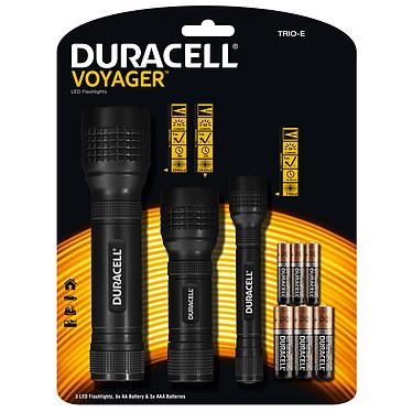 Duracell Voyager TRIO-E Lot de 3 lampes torche LED (50, 60 et 70 Lumens)
