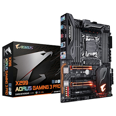 Gigabyte X299 AORUS Gaming 3 Pro Carte mère ATX Socket 2066 Intel X299 Express - DDR4 - SATA 6Gb/s - M.2 - USB 3.1 - 5x PCI-Express 3.0 16x