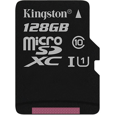 Kingston Canvas Select SDCS/128GBSP Carte mémoire microSDXC UHS-I U1 128 Go