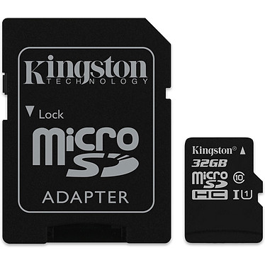Kingston Canvas Select SDCS/32GB Carte mémoire microSDXC UHS-I U1 32 Go avec adaptateur SD