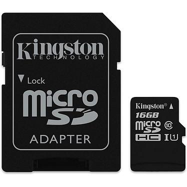 Kingston Canvas Select SDCS/16GB Carte mémoire microSDXC UHS-I U1 16 Go avec adaptateur SD