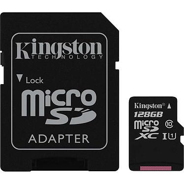 Kingston Canvas Select SDCS/128GB Carte mémoire microSDXC UHS-I U1 128 Go avec adaptateur SD