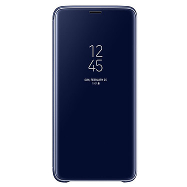 Samsung Clear View Cover Azul Galaxy S9+ Maletín con indicador de fecha/hora y función de soporte para el Samsung Galaxy S9+
