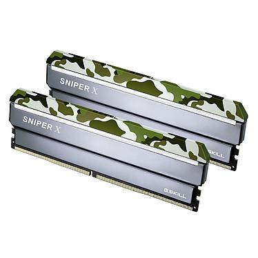G.Skill Sniper X Series 32 Go (2x 16 Go) DDR4 3200 MHz CL16 Kit Dual Channel 2 barrettes de RAM DDR4 PC4-25600 - F4-3200C16D-32GSXFB